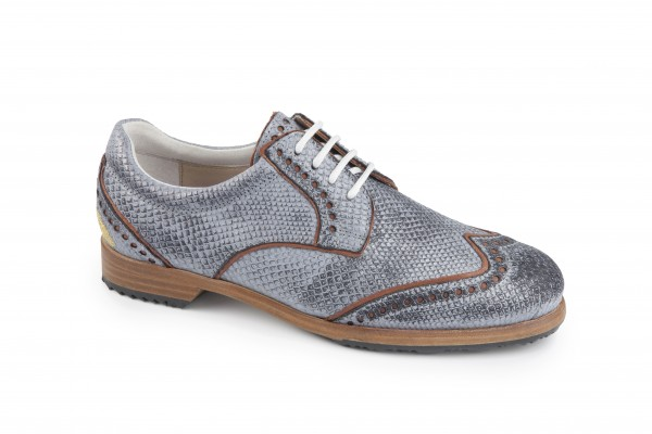 S-LESTER WHITE DERBY STS TAUBENBLAU