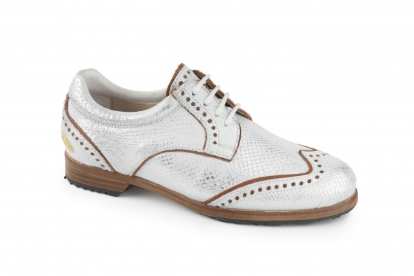 S-LESTER WHITE DERBY STS SILBER